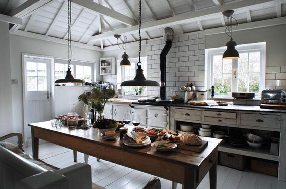 open plan kitchen diner, mousehole cornwall