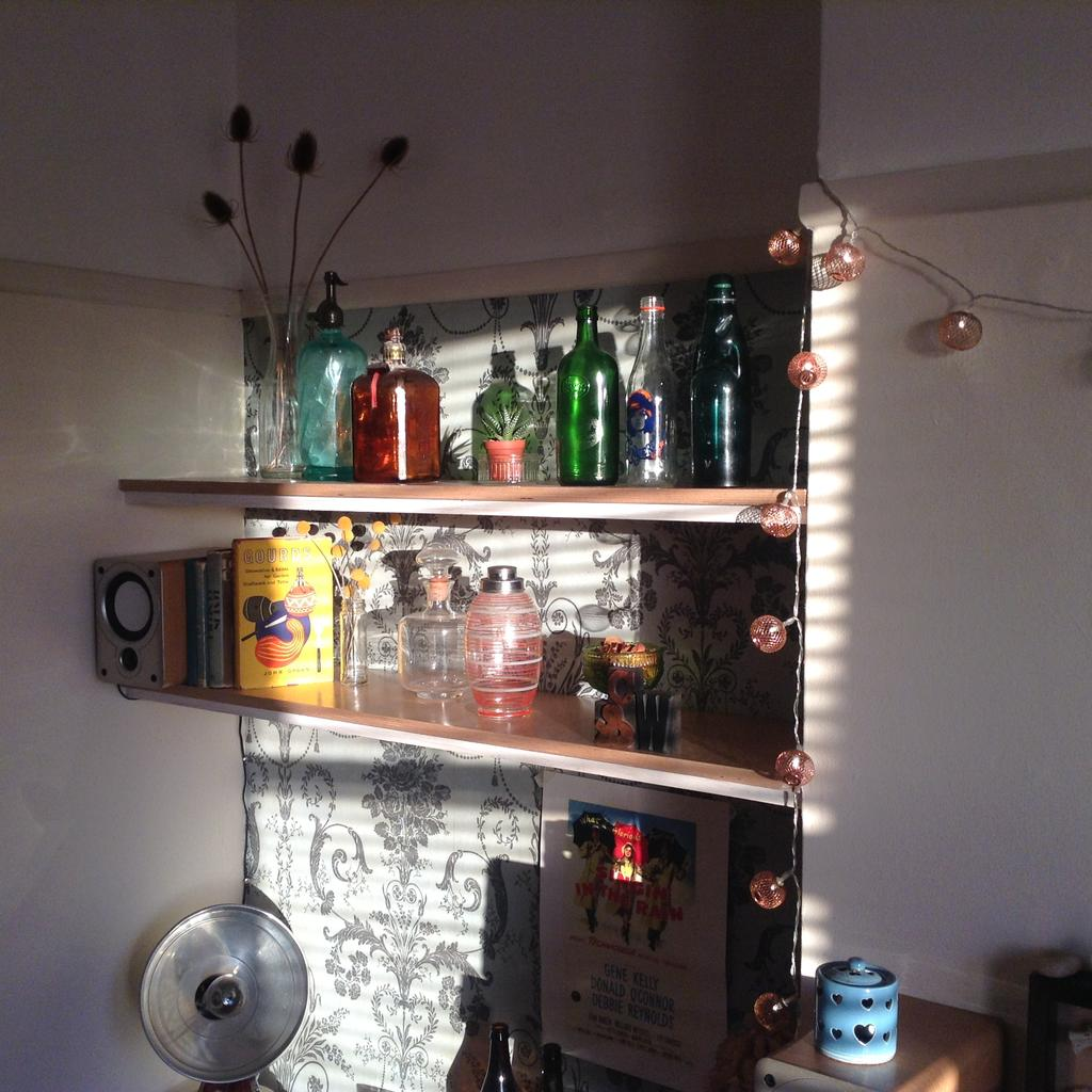 Farewell Number 36 New, mantelpiece, Vintage Glass Bottles,