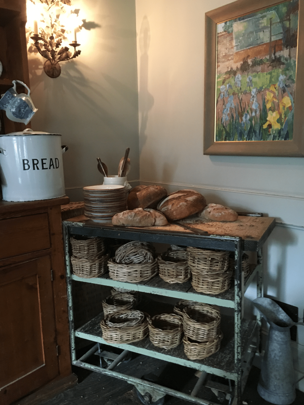 The Pig near Bath, bread trolley