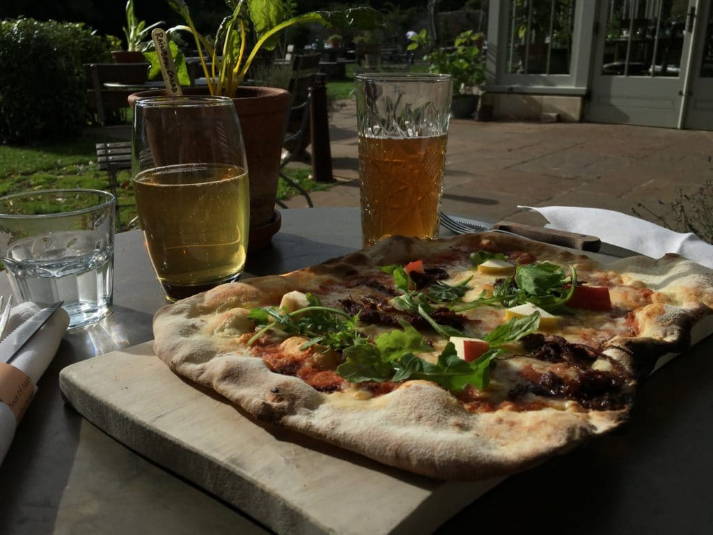 The Pig near Bath, Pizza