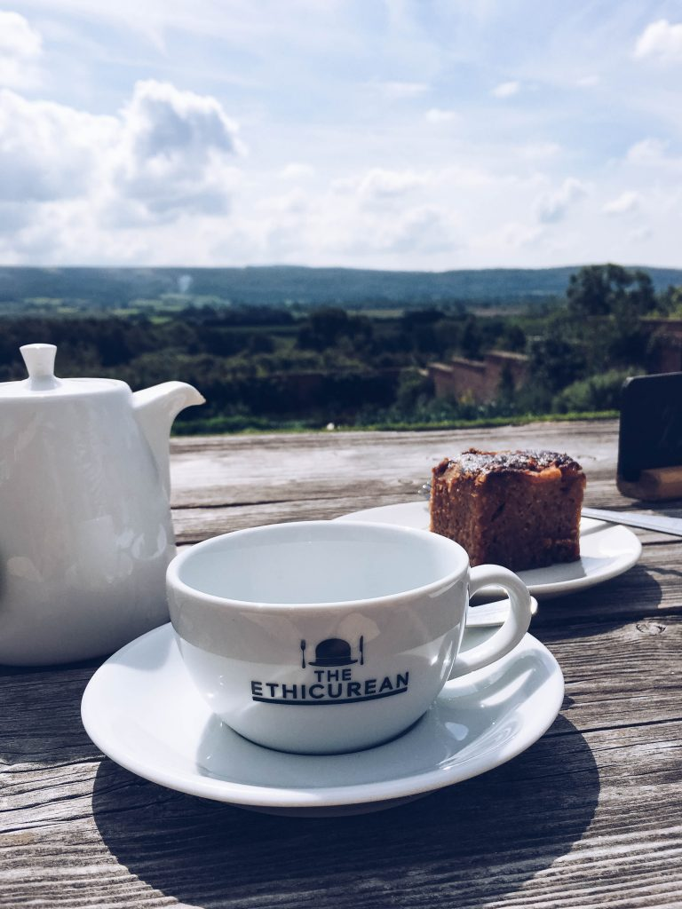 Tea and toffee apple cake at The Ethicurean, Bristol